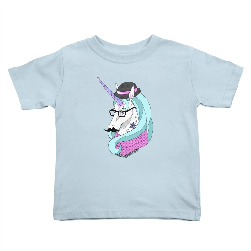 Hipster Unicorn Kids Toddler T-Shirt by ariesnamarie's Artist Shop