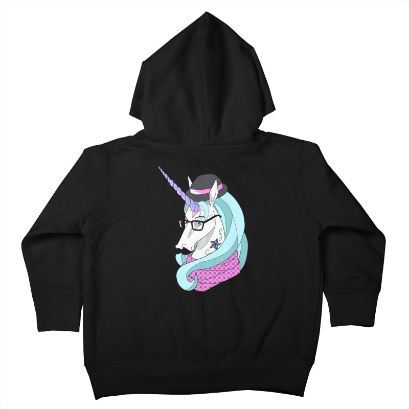 Hipster Unicorn Kids Toddler Zip-Up Hoody by ariesnamarie's Artist Shop