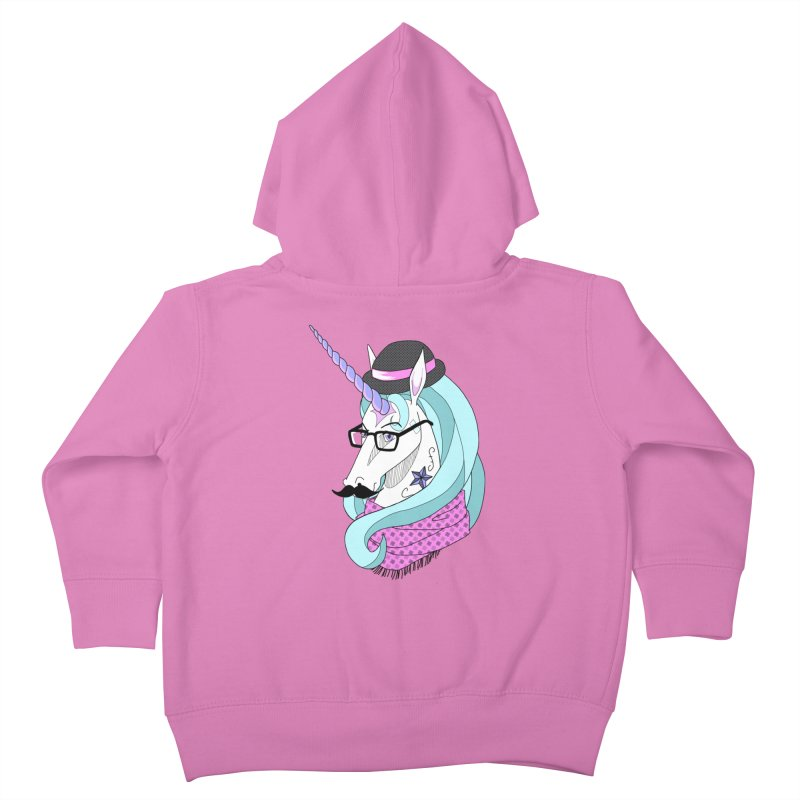 Hipster Unicorn Kids Toddler Zip-Up Hoody by ariesnamarie's Artist Shop
