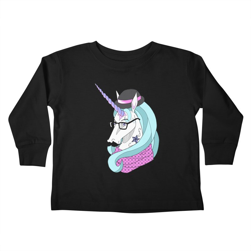 Hipster Unicorn Kids Toddler Longsleeve T-Shirt by ariesnamarie's Artist Shop