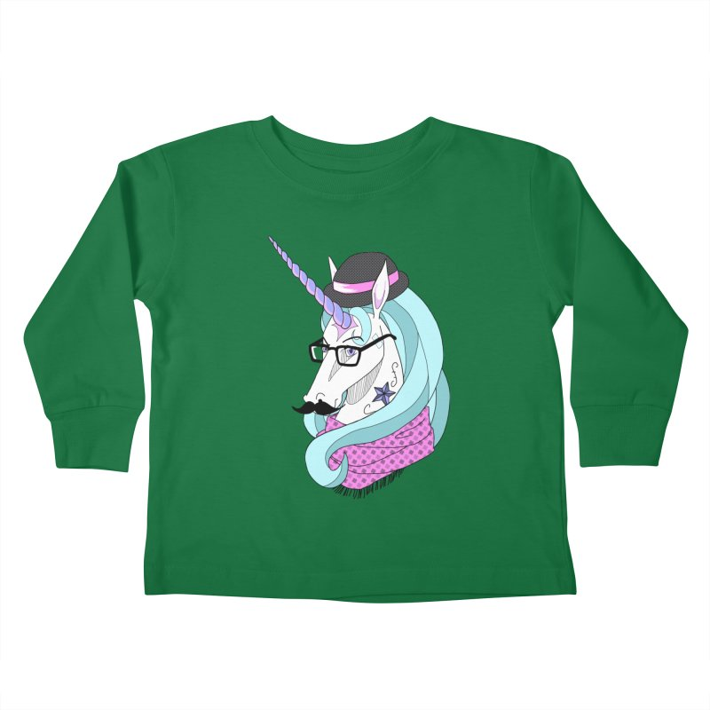 Hipster Unicorn Kids Toddler Longsleeve T-Shirt by ariesnamarie's Artist Shop