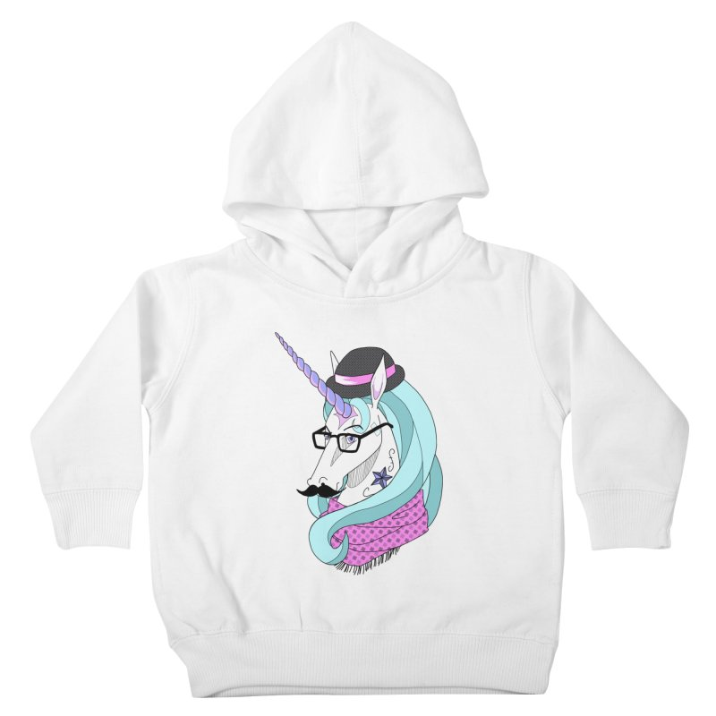 Hipster Unicorn Kids Toddler Pullover Hoody by ariesnamarie's Artist Shop
