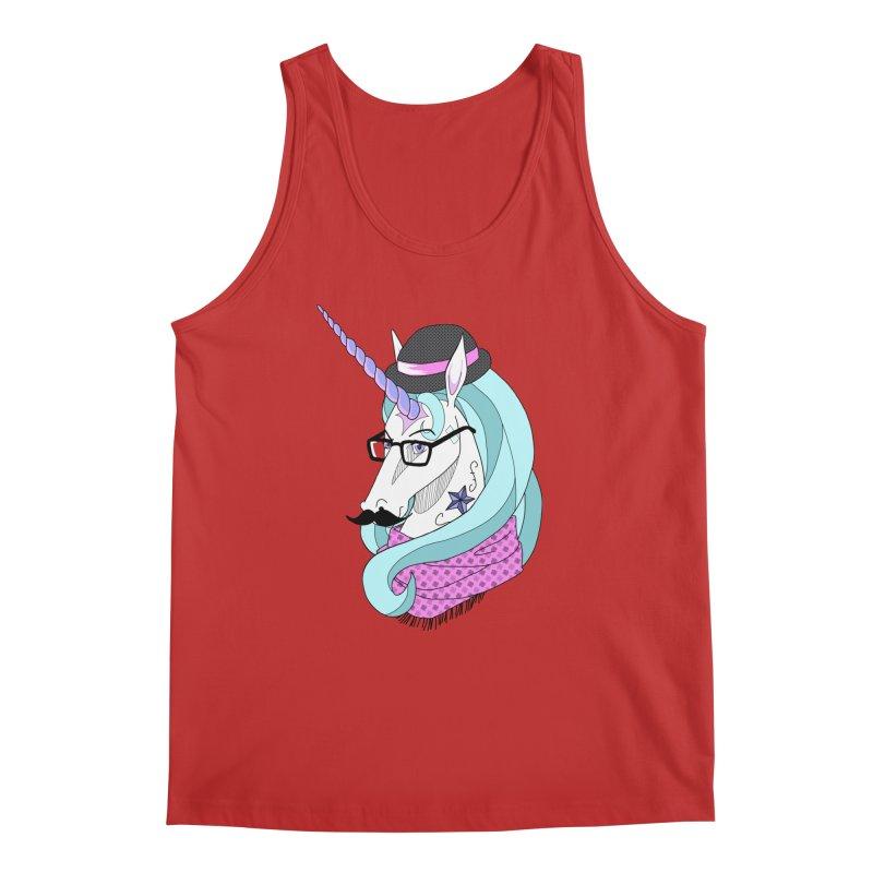 Hipster Unicorn Men's Tank by ariesnamarie's Artist Shop