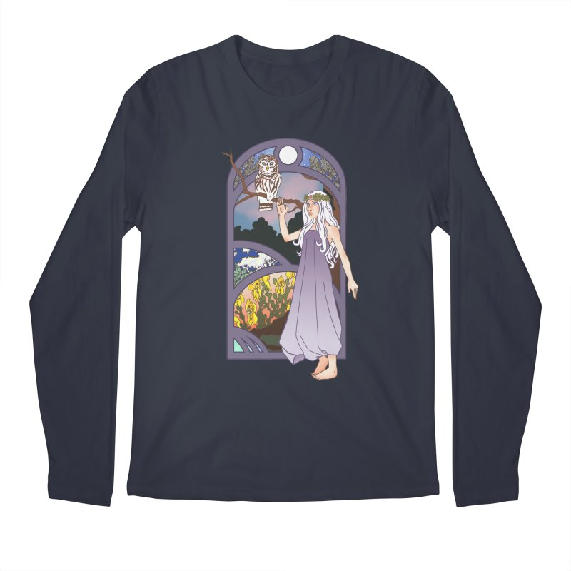 The Flower Maiden Men's Longsleeve T-Shirt by ariesnamarie's Artist Shop
