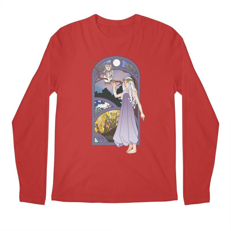 The Flower Maiden Men's Longsleeve T-Shirt by ariesnamarie's Artist Shop