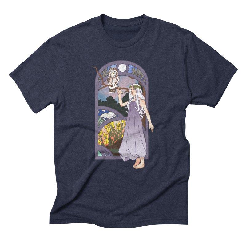 The Flower Maiden Men's Triblend T-Shirt by ariesnamarie's Artist Shop