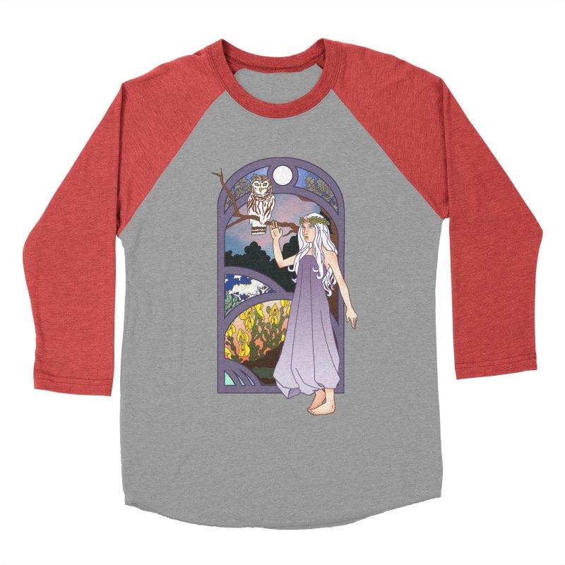 The Flower Maiden Women's Baseball Triblend T-Shirt by ariesnamarie's Artist Shop