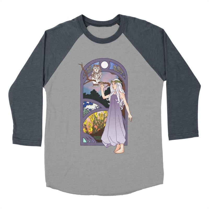 The Flower Maiden Men's Baseball Triblend T-Shirt by ariesnamarie's Artist Shop