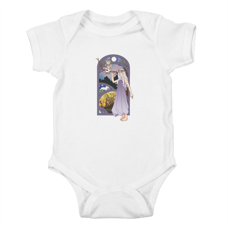 The Flower Maiden Kids Baby Bodysuit by ariesnamarie's Artist Shop