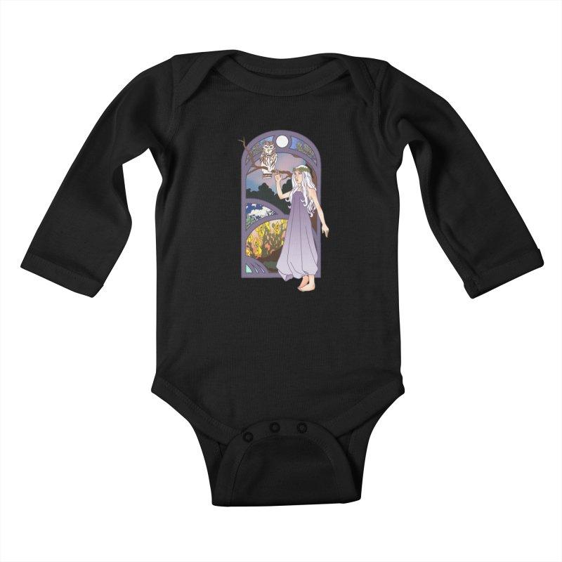 The Flower Maiden Kids Baby Longsleeve Bodysuit by ariesnamarie's Artist Shop