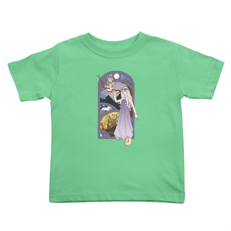 The Flower Maiden Kids Toddler T-Shirt by ariesnamarie's Artist Shop