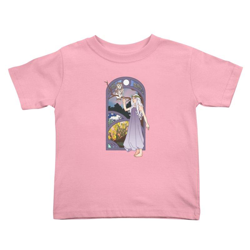The Flower Maiden Kids Toddler T-Shirt by ariesnamarie's Artist Shop