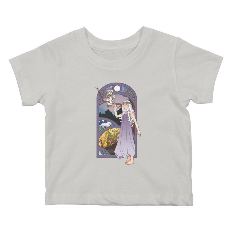 The Flower Maiden Kids Baby T-Shirt by ariesnamarie's Artist Shop