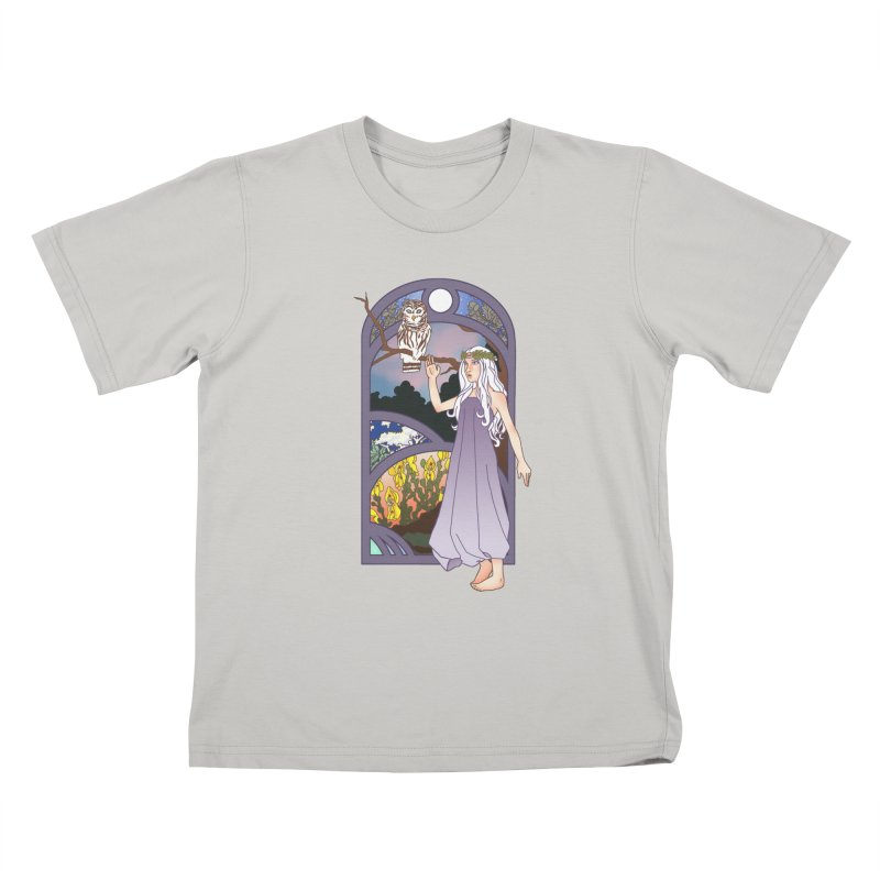 The Flower Maiden Kids T-Shirt by ariesnamarie's Artist Shop