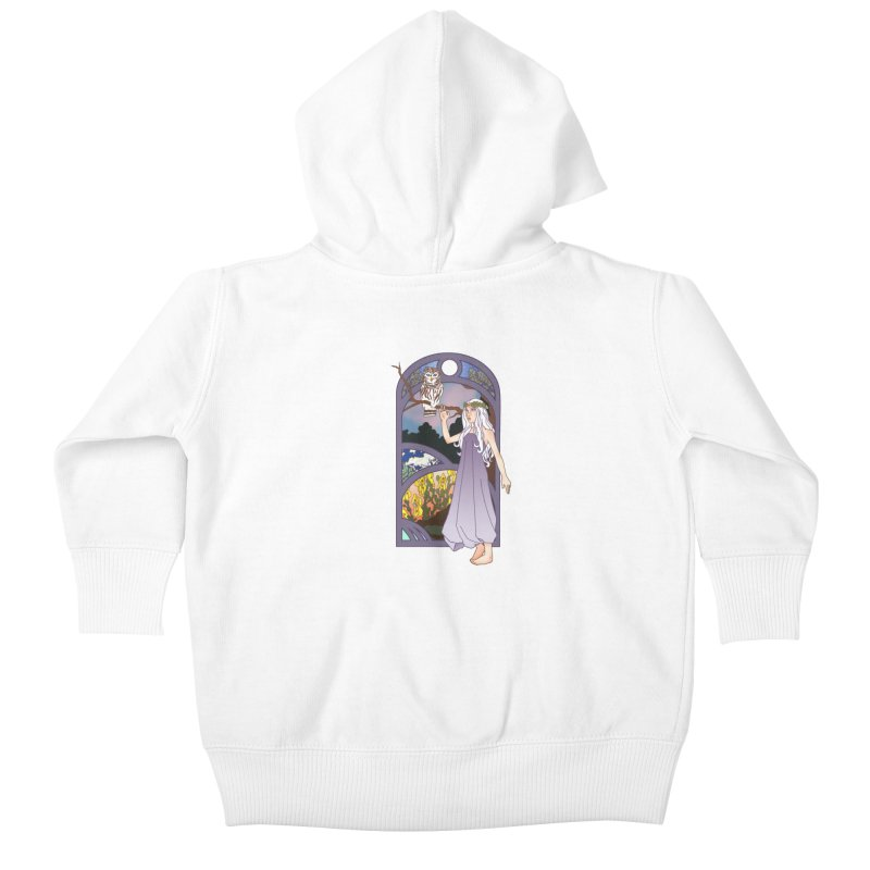 The Flower Maiden Kids Baby Zip-Up Hoody by ariesnamarie's Artist Shop