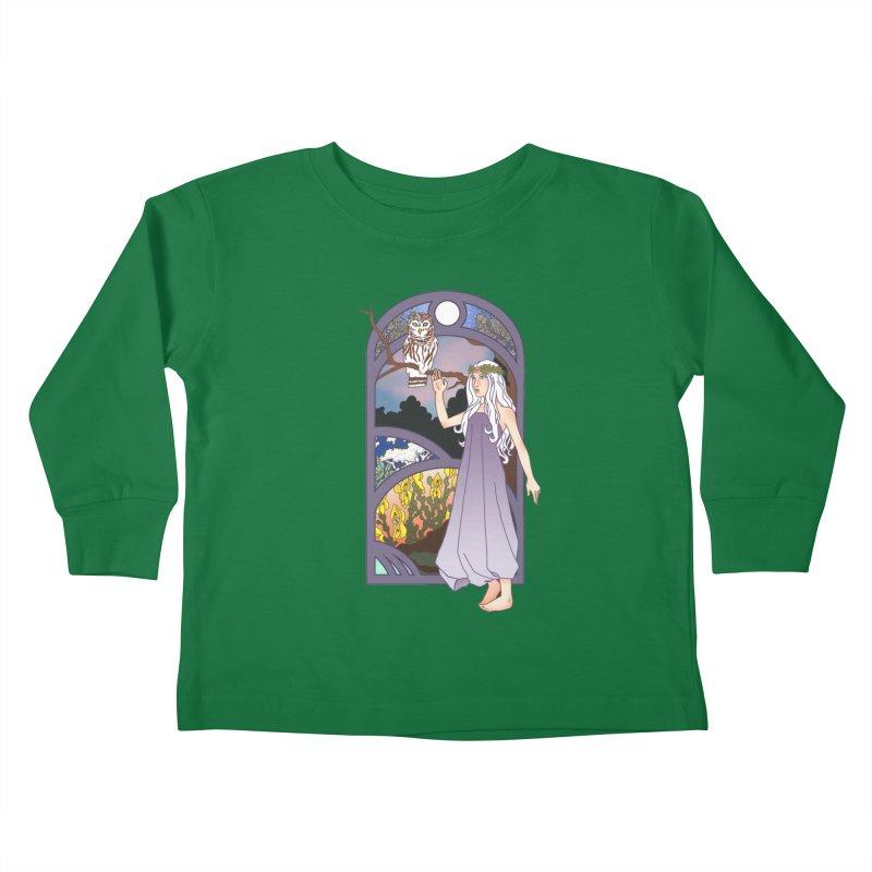 The Flower Maiden Kids Toddler Longsleeve T-Shirt by ariesnamarie's Artist Shop
