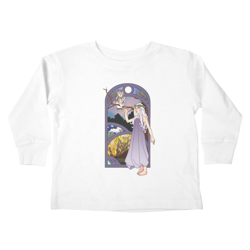 The Flower Maiden Kids Toddler Longsleeve T-Shirt by ariesnamarie's Artist Shop