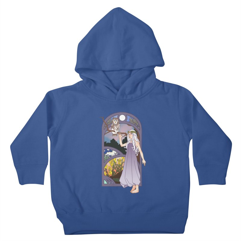 The Flower Maiden Kids Toddler Pullover Hoody by ariesnamarie's Artist Shop