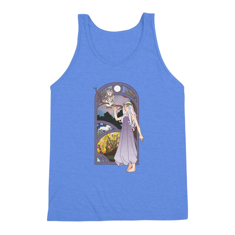 The Flower Maiden Men's Triblend Tank by ariesnamarie's Artist Shop