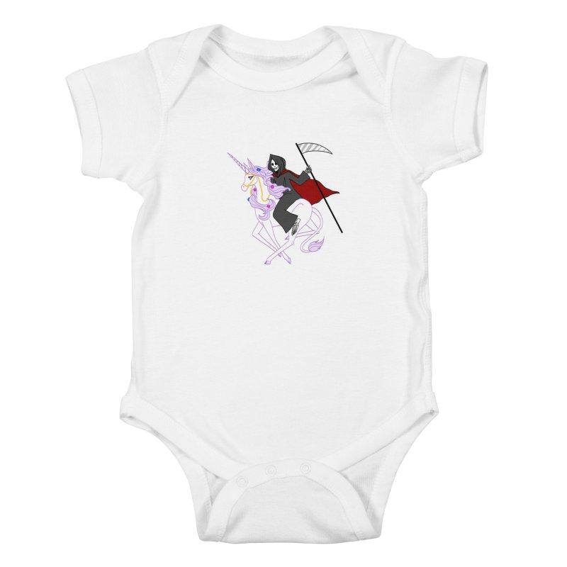 Riding Buddies Kids Baby Bodysuit by ariesnamarie's Artist Shop