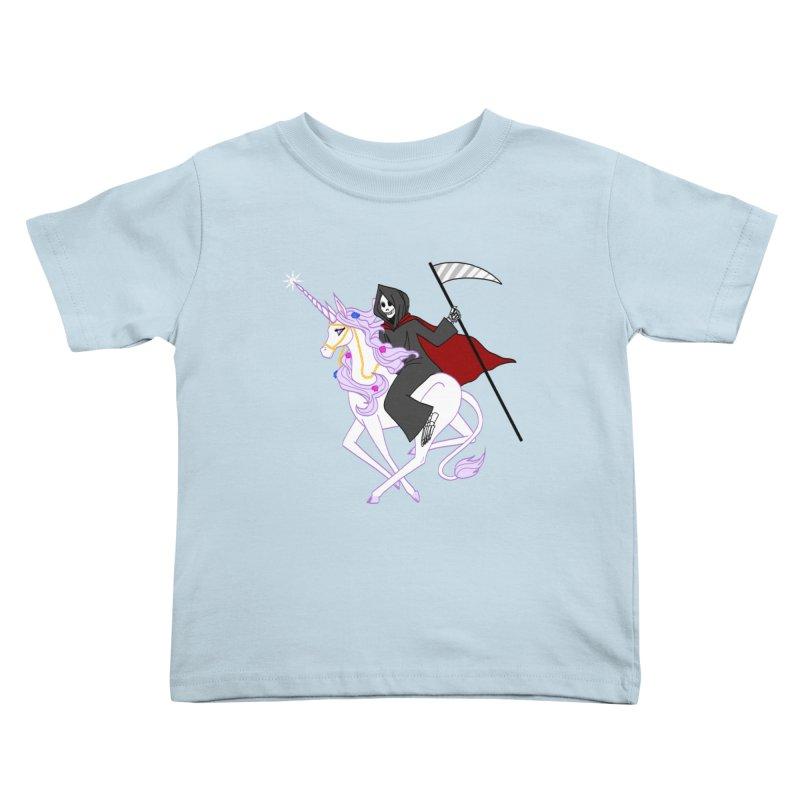 Riding Buddies Kids Toddler T-Shirt by ariesnamarie's Artist Shop