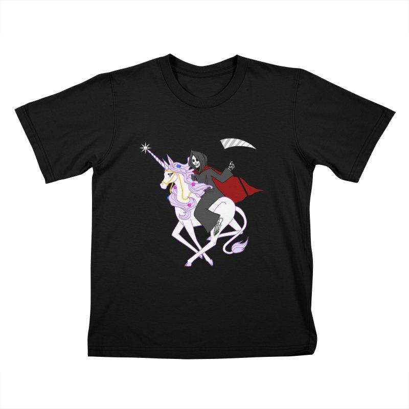 Riding Buddies Kids T-Shirt by ariesnamarie's Artist Shop