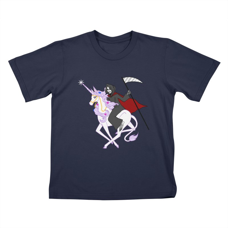 Riding Buddies Kids T-Shirt by ariesnamarie's Artist Shop