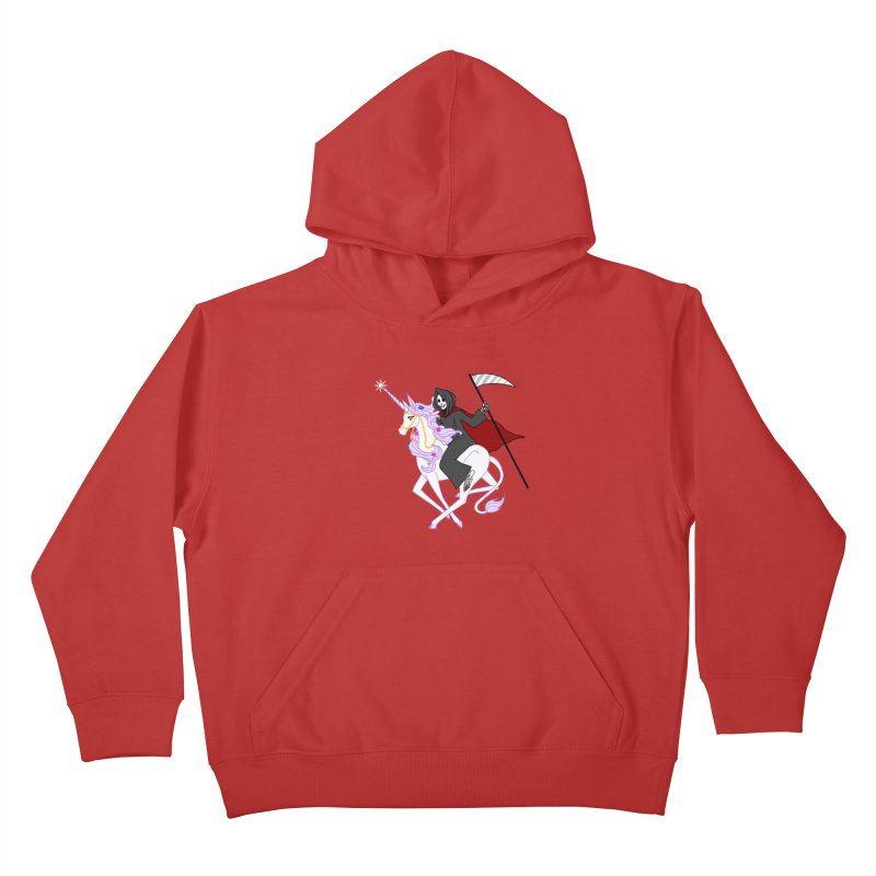 Riding Buddies Kids Pullover Hoody by ariesnamarie's Artist Shop