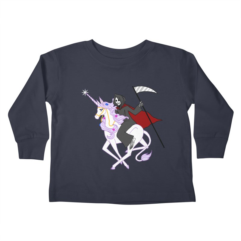 Riding Buddies Kids Toddler Longsleeve T-Shirt by ariesnamarie's Artist Shop