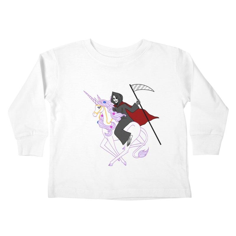 Riding Buddies Kids Toddler Longsleeve T-Shirt by ariesnamarie's Artist Shop