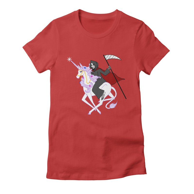 Riding Buddies Women's Fitted T-Shirt by ariesnamarie's Artist Shop