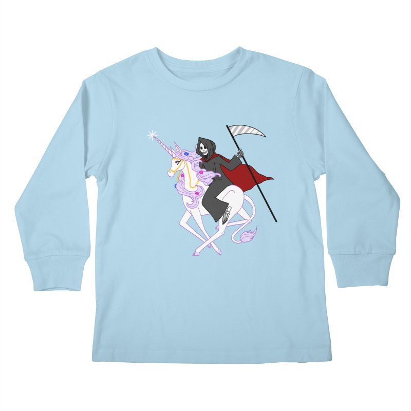 Riding Buddies Kids Longsleeve T-Shirt by ariesnamarie's Artist Shop