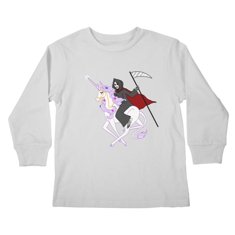 Riding Buddies Kids Longsleeve T-Shirt by ariesnamarie's Artist Shop