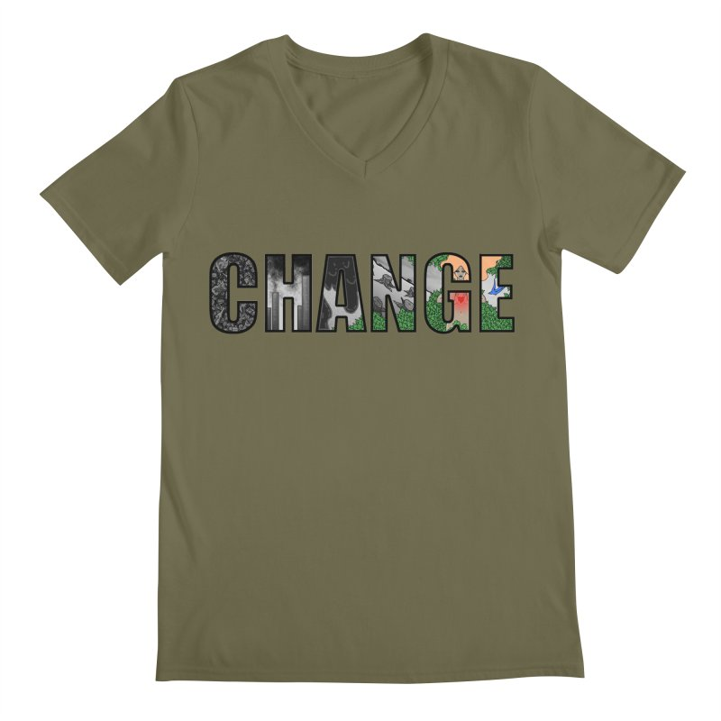 Change Men's V-Neck by ariesnamarie's Artist Shop