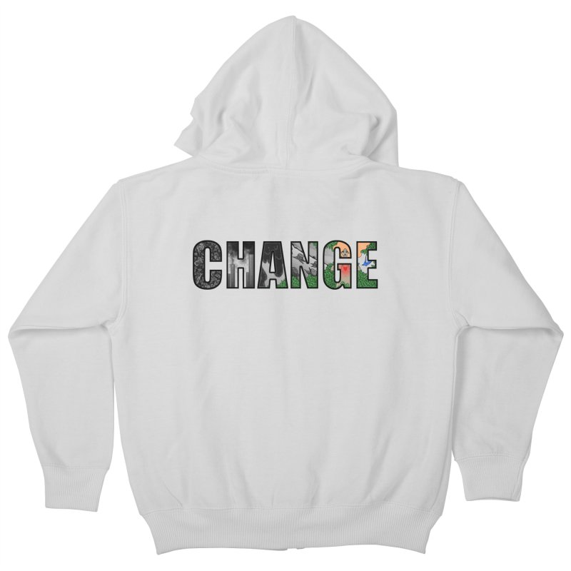 Change Kids Zip-Up Hoody by ariesnamarie's Artist Shop