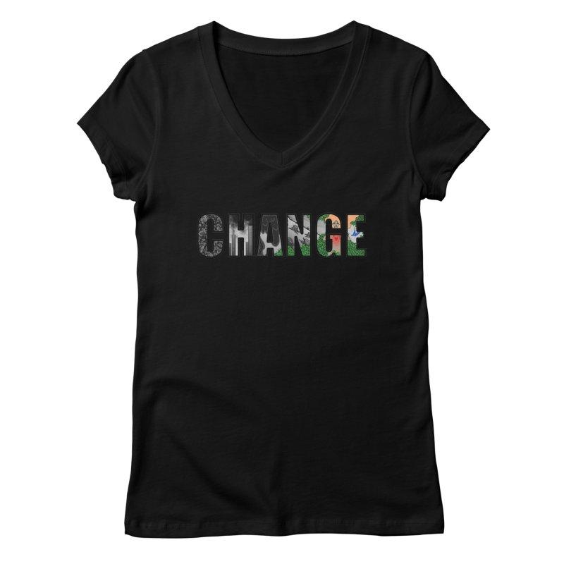 Change Women's V-Neck by ariesnamarie's Artist Shop