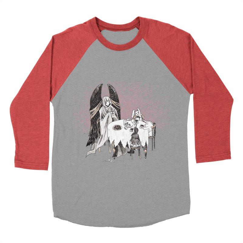 Tea Time Men's Baseball Triblend T-Shirt by ariesnamarie's Artist Shop