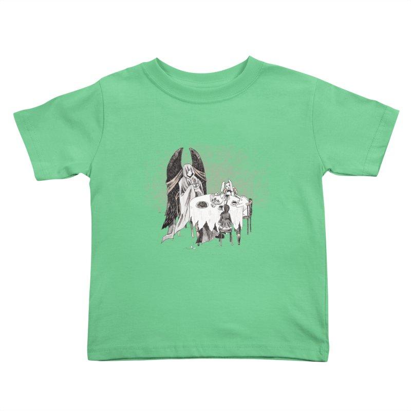 Tea Time Kids Toddler T-Shirt by ariesnamarie's Artist Shop