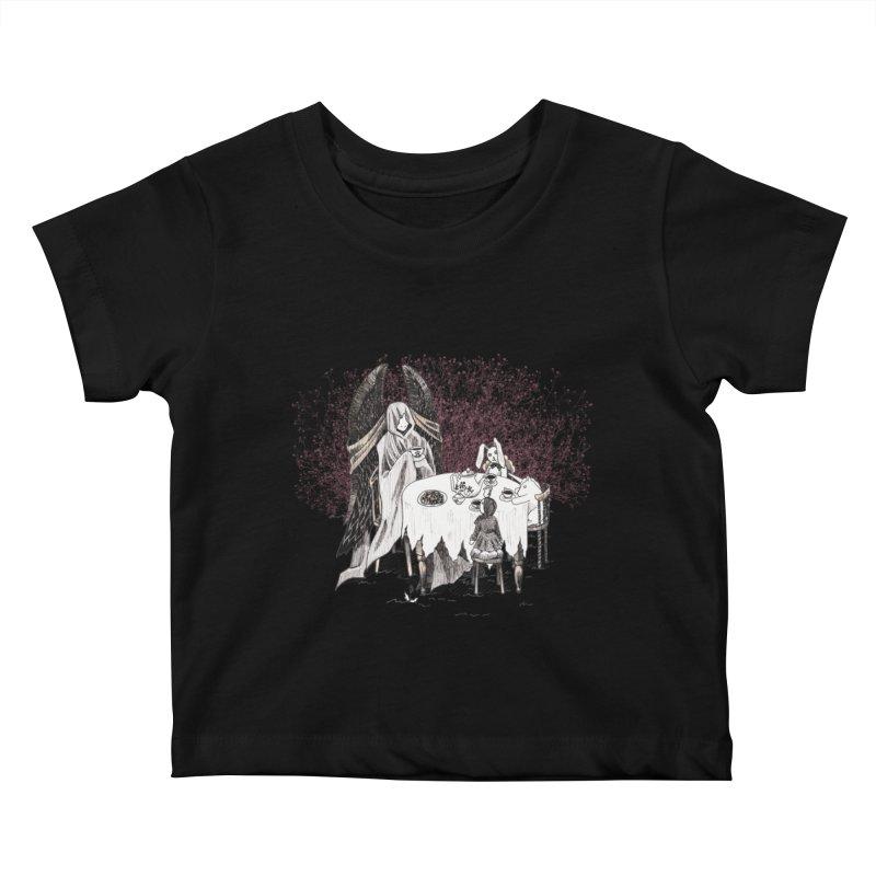 Tea Time Kids Baby T-Shirt by ariesnamarie's Artist Shop