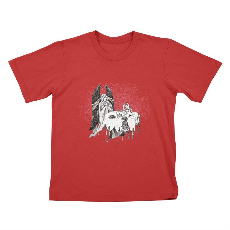 Tea Time Kids T-Shirt by ariesnamarie's Artist Shop