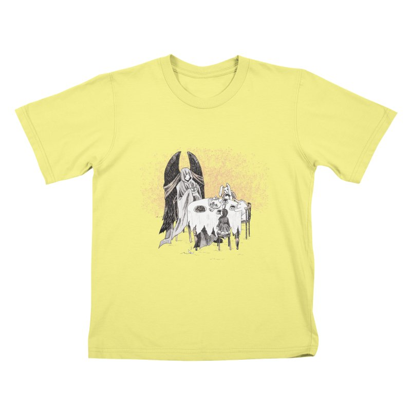 Tea Time Kids T-shirt by ariesnamarie's Artist Shop