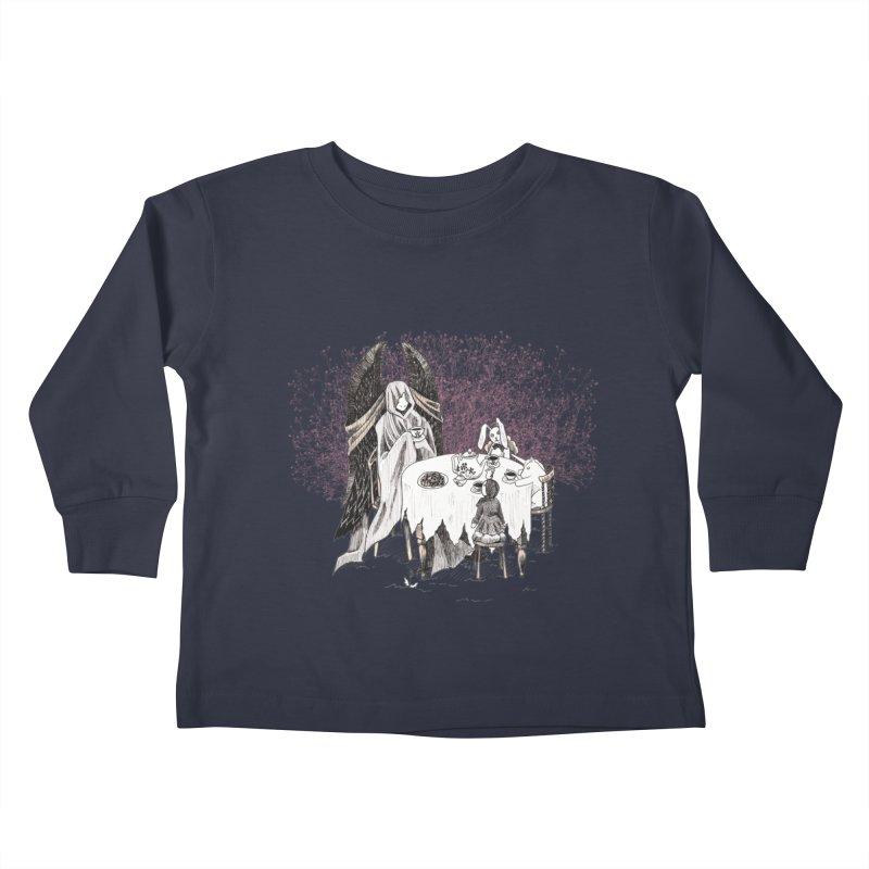 Tea Time Kids Toddler Longsleeve T-Shirt by ariesnamarie's Artist Shop