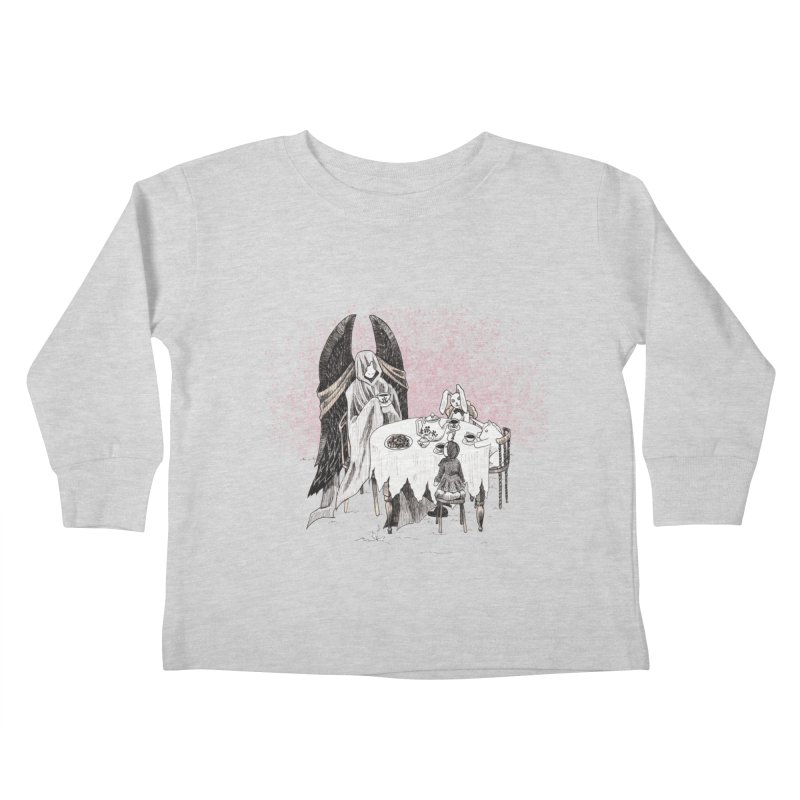 Tea Time Kids Toddler Longsleeve T-Shirt by ariesnamarie's Artist Shop