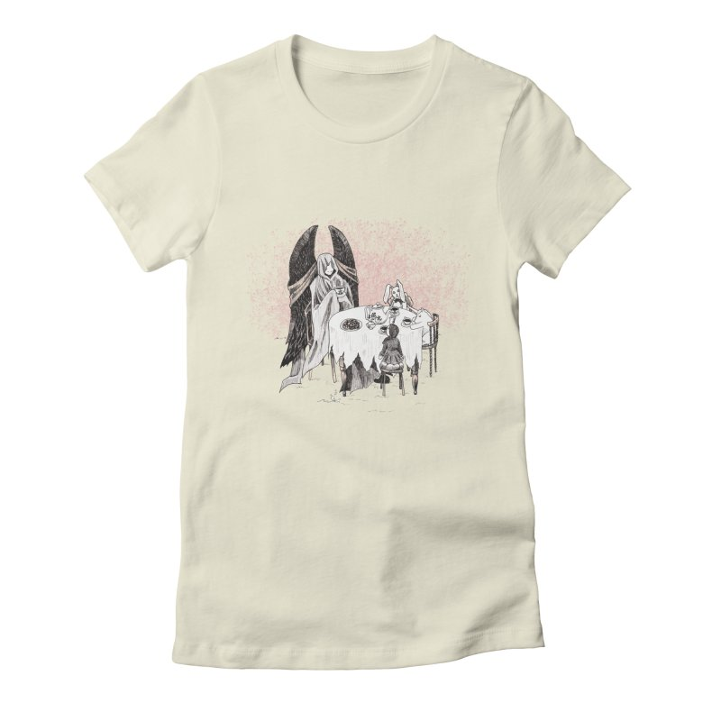 Tea Time Women's Fitted T-Shirt by ariesnamarie's Artist Shop