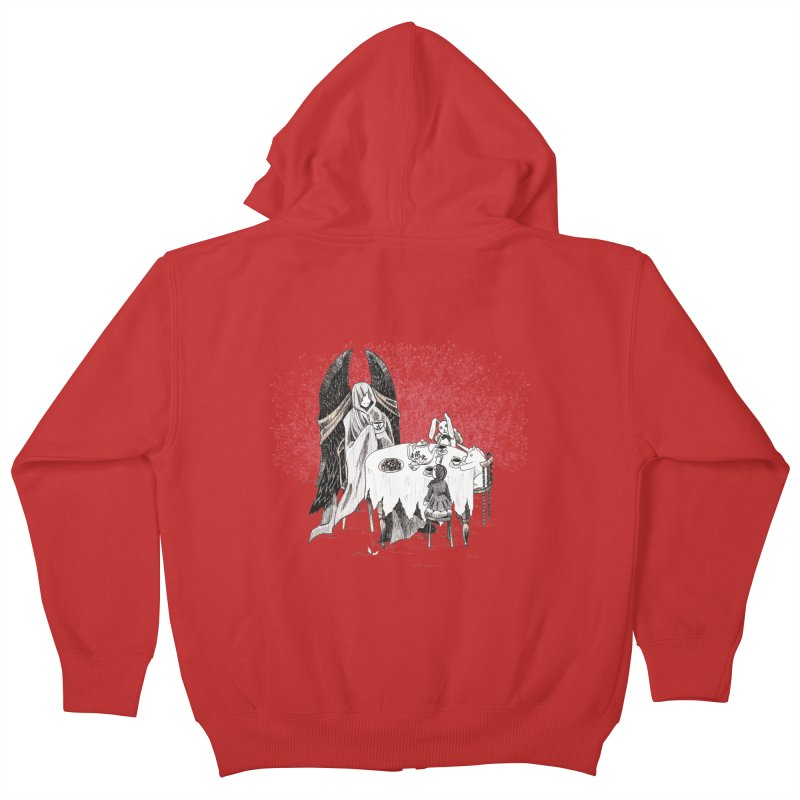 Tea Time Kids Zip-Up Hoody by ariesnamarie's Artist Shop