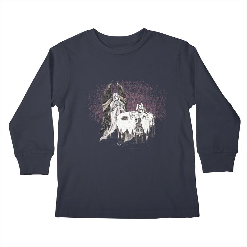 Tea Time Kids Longsleeve T-Shirt by ariesnamarie's Artist Shop
