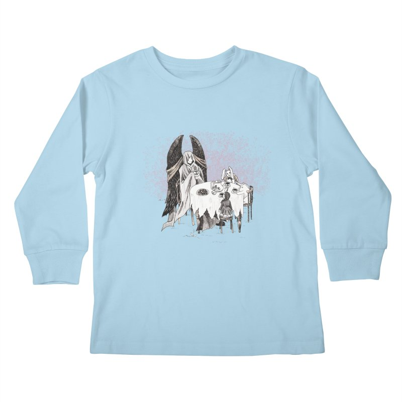 Tea Time Kids Longsleeve T-Shirt by ariesnamarie's Artist Shop