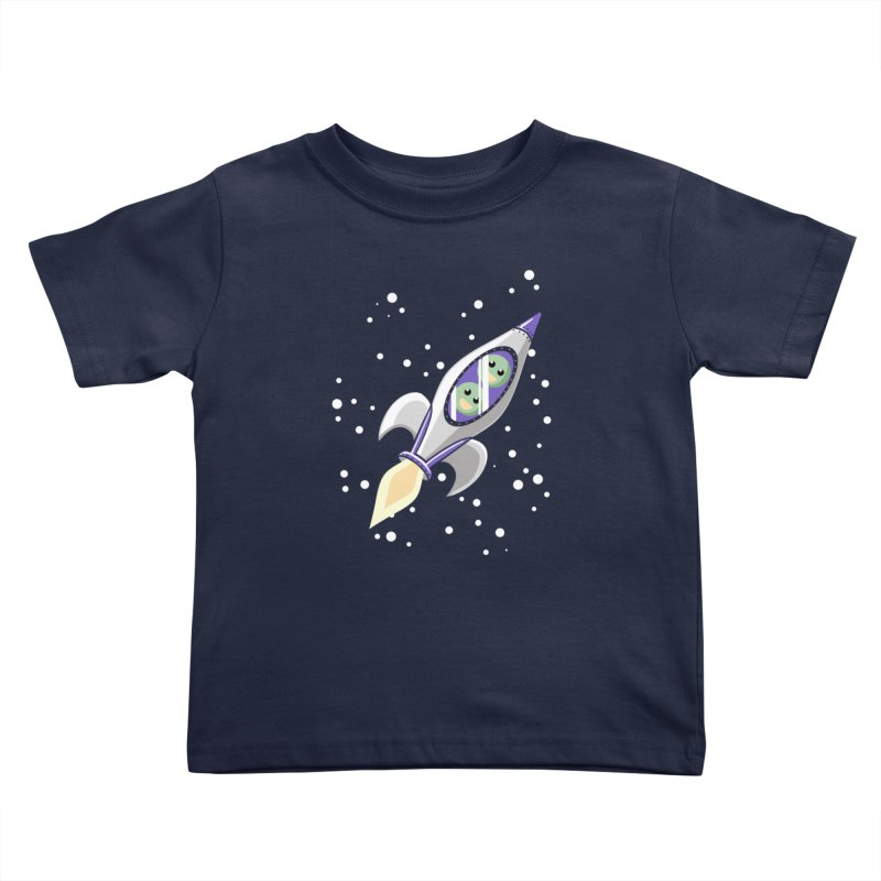 Two Peas in a Space Pod Kids Toddler T-Shirt by ariesnamarie's Artist Shop