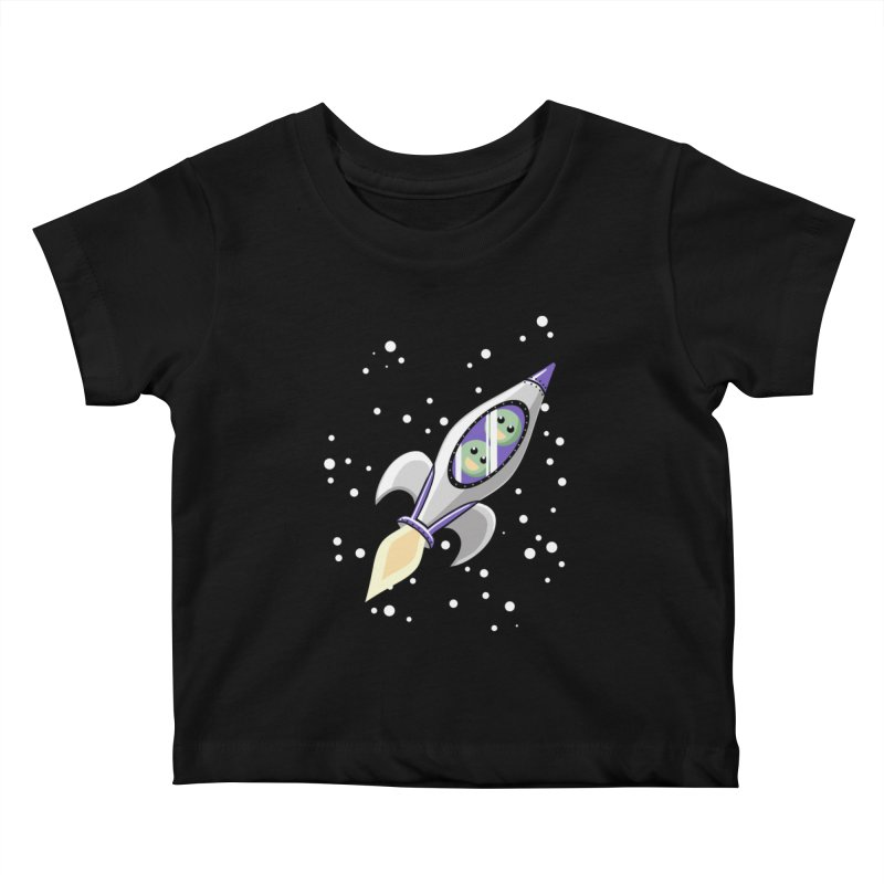 Two Peas in a Space Pod Kids Baby T-Shirt by ariesnamarie's Artist Shop