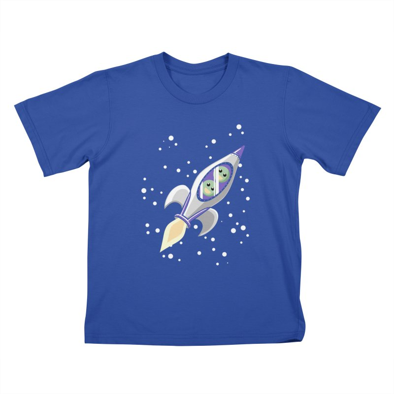 Two Peas in a Space Pod Kids T-Shirt by ariesnamarie's Artist Shop